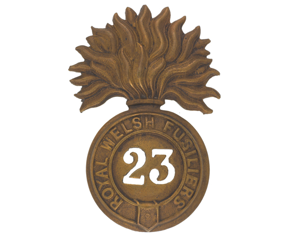 Other ranks' glengarry badge, The Royal Welch Fusiliers, c1874