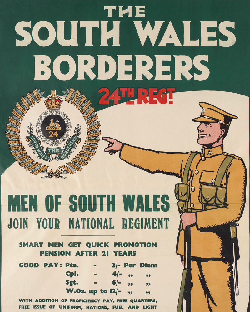 Recruiting poster for The South Wales Borderers, 1928