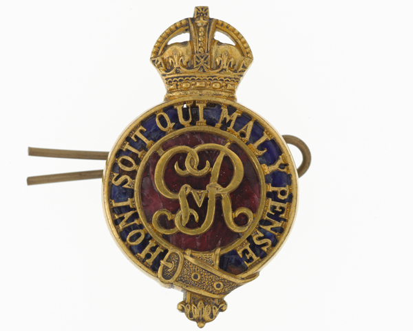 Cap badge, The Household Cavalry, c1919
