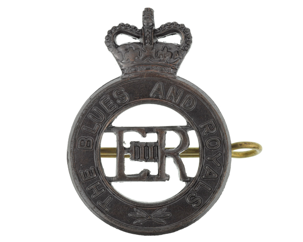 Other ranks' cap badge, The Blues and Royals (Royal Horse Guards and 1st Dragoons), c1990