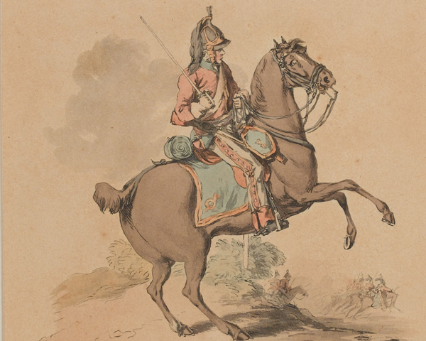 A trooper of the 1st (Royal) Regiment of Dragoons, c1814