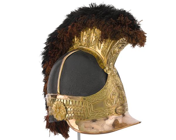 Helmet worn by Captain William Tyrwhitt Drake at Waterloo, 1815