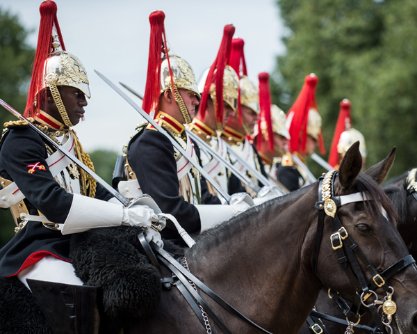 Members of the Household Cavalry Mounted Regiment, Horse Guards, 2016
