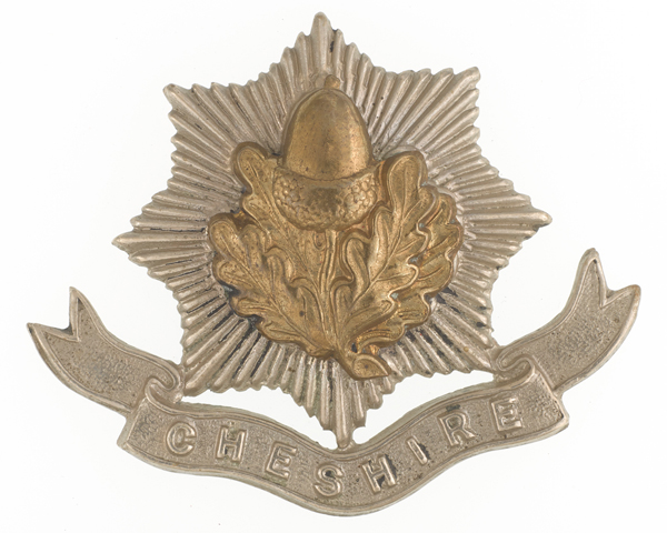 Other ranks' cap badge, The Cheshire Regiment, c1914