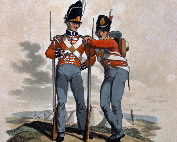6th Regiment and 23rd or Royal Welsh Fusiliers, 1812
