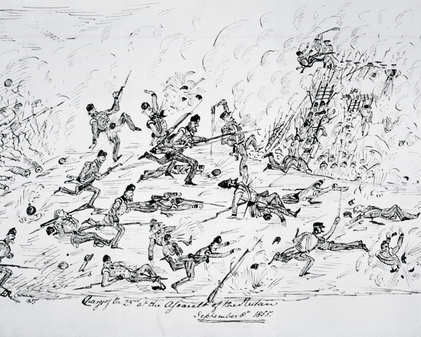 The 23rd Regiment at the assault on the Redan, Sevastopol, 1855