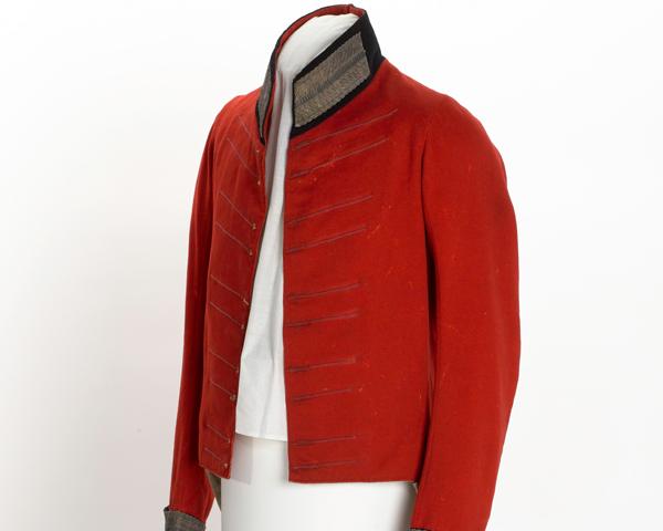 Dress coatee worn by Captain Erasmus Goodwin, 4th (Royal Irish) Dragoon Guards, 1813