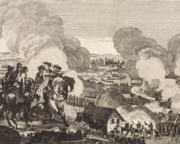 The Battle of Prague between the Prussians and Austrians, 1757