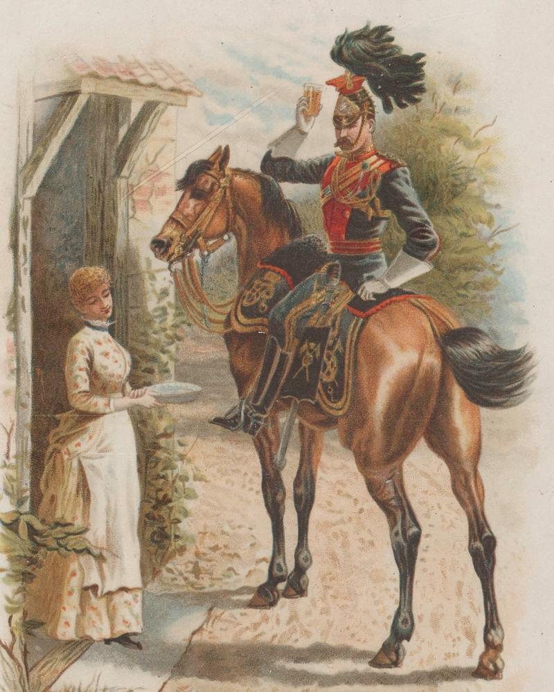 5th (Royal Irish) Lancers Christmas card, c1885