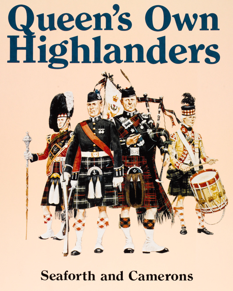 Recruitment poster, The Queen's Own Highlanders (Seaforth and Camerons), c1994