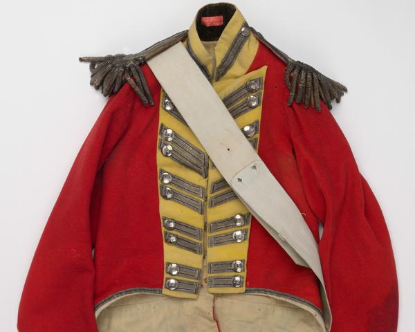 Coatee worn by Lieutenant John Bramwell at Quatre Bras, 1815