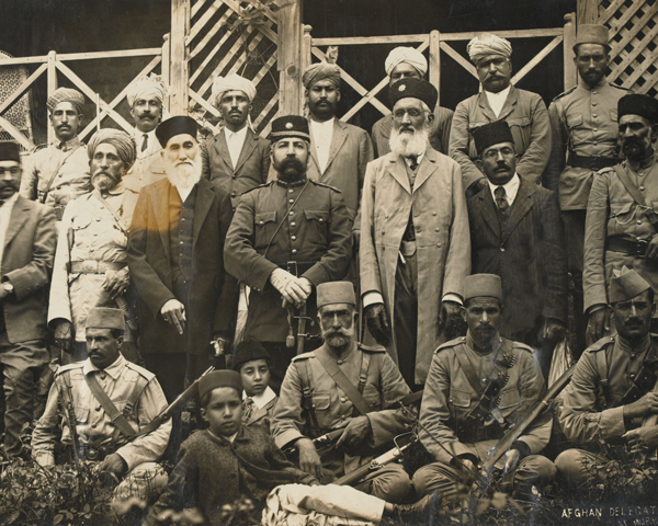 The Afghan peace delegates at Murree, 1919