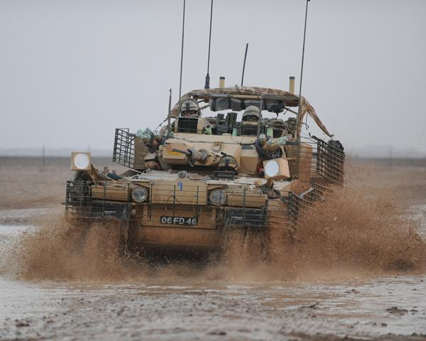 A Scimitar CVR(T) light reconnaissance tank, 2011