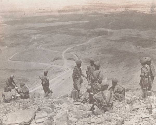 Indian Army picquet overlooking the Khyber Pass, 1919
