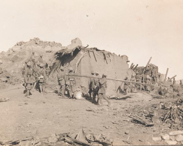 Demolishing Nai Kuch village in Waziristan, 1919