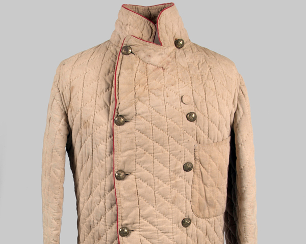 Quilted jacket worn by a member of the 9th Lancers, Afghanistan, c1880