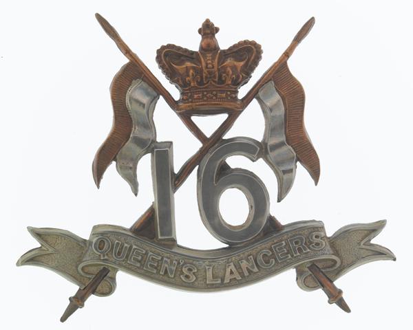 Cap badge, 16th (The Queen's) Lancers, c1900