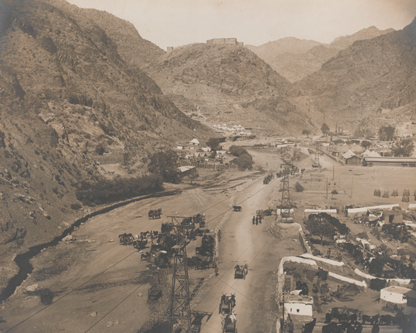 The ropeway transit system at Landi Kotal in the Khyber, 1919