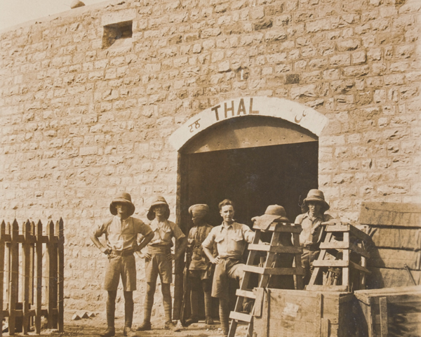 Soldiers at Thal Fort in the Kurram, c1919