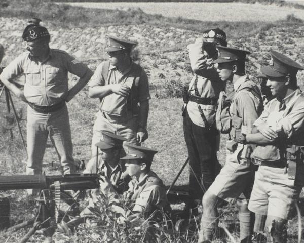 Seaforth Highlanders training the Hong Kong Volunteer Defence Corps, 1938