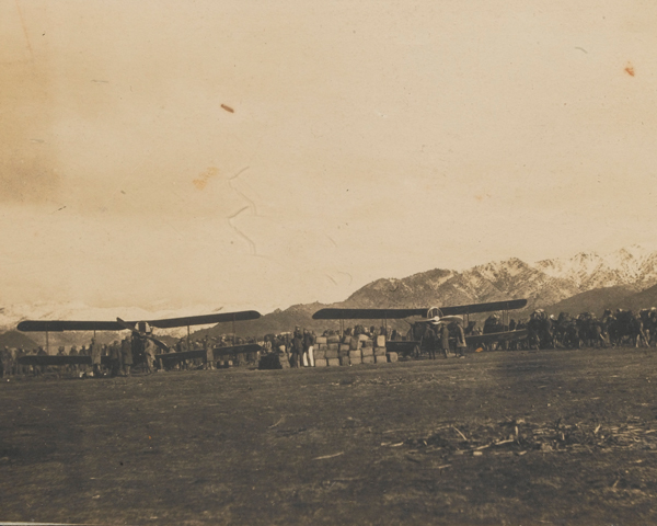 A British airfield on the frontier, c1919