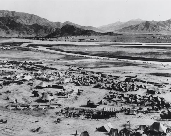 The British camp at Dakka, 1919