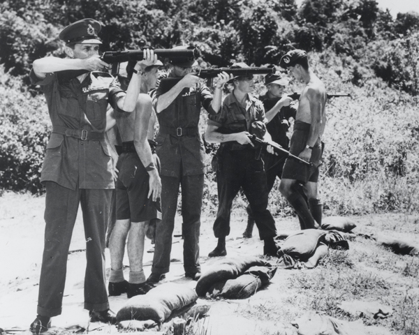 General Sir Gerald Templer visiting 1st Battalion The Gordon Highlanders, Perak, 1952
