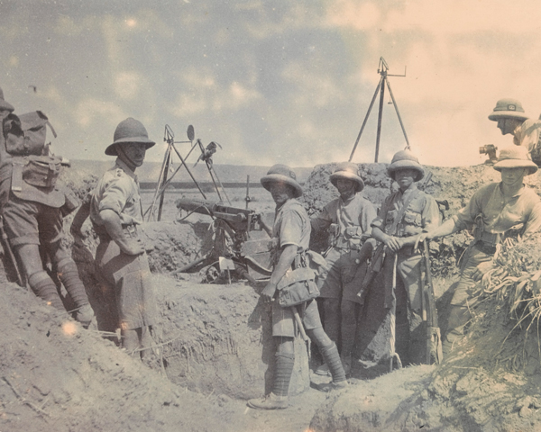 British troops at Jatta Post in the Khyber, 1919