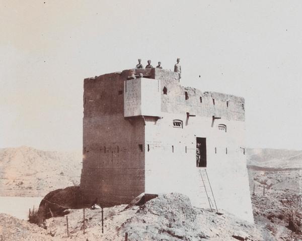 A frontier blockhouse at Jandola in Waziristan, c1920