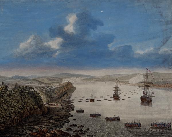 The British landing at Quebec, 1759