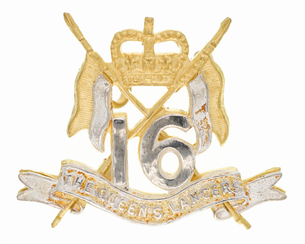 Officers' cap badge, 16th/5th The Queen's Royal Lancers, c1980