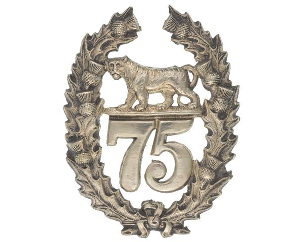 Glengarry badge, 75th (Stirlingshire) Regiment of Foot, c1874