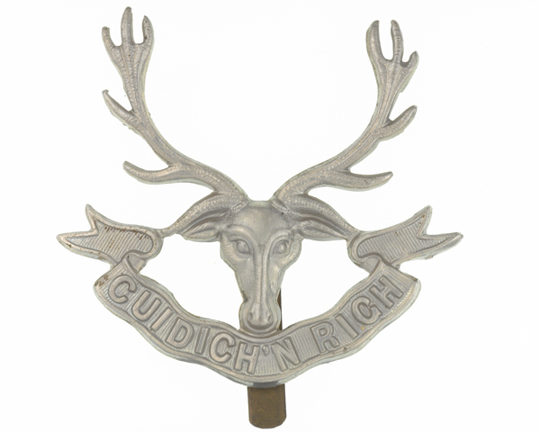 Cap badge, The Seaforth Highlanders, c1914