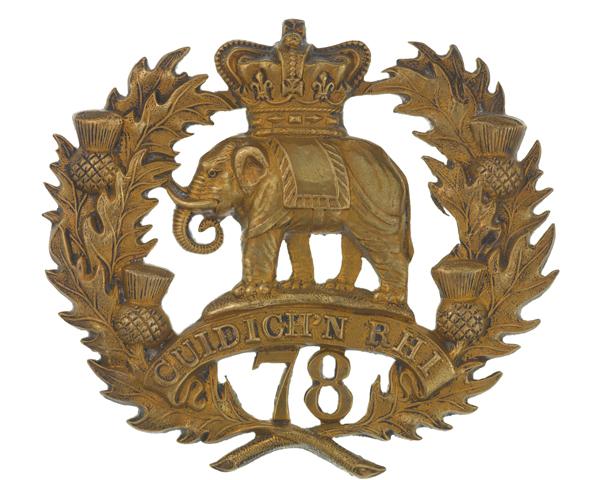 Glengarry badge, 78th (Highlanders) Regiment of Foot (Ross-shire Buffs), c1874