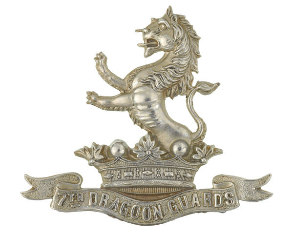 Cap badge, 7th (Princess Royal's) Dragoon Guards, c1900