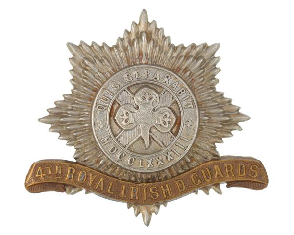 Other ranks' cap badge, 4th (Royal Irish) Dragoon Guards, c1900