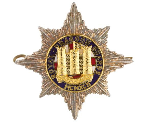 Cap badge of The Royal Dragoon Guards, c1992