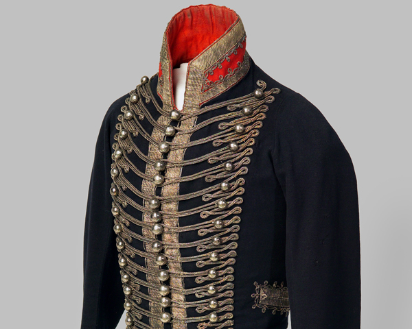 Officer's jacket, 16th (or Queen's) Light Dragoons, c1814