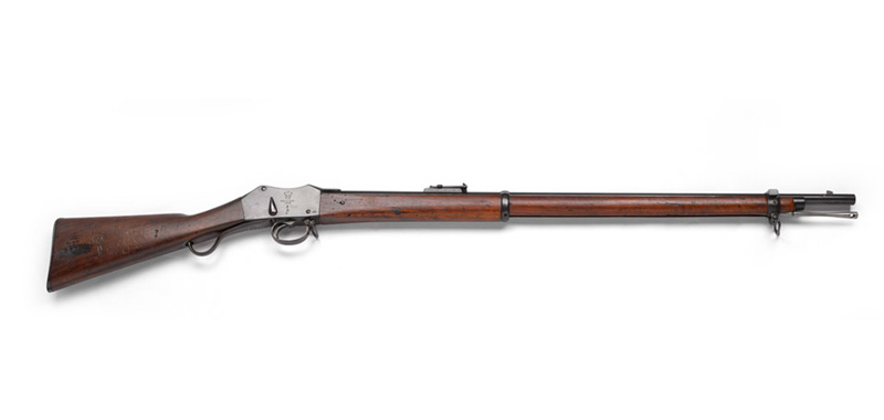 Martini-Henry Rifle of the type used by the British at Rorke's Drift, c1876