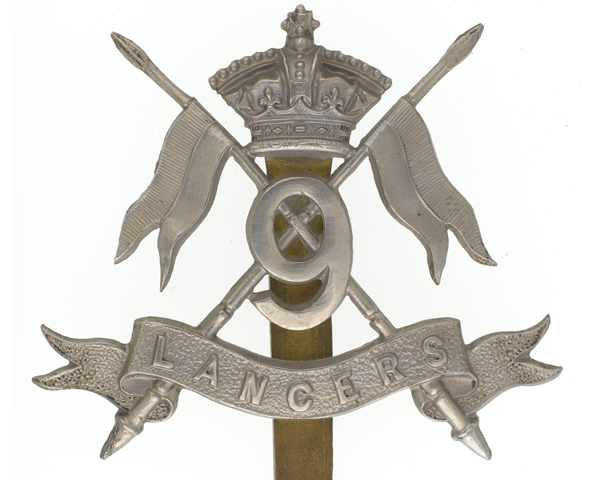 Cap badge, other ranks, 9th Queen's Royal Lancers, c1902