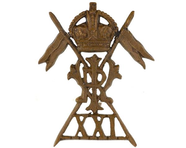 Cap badge, 21st (Empress of India's) Lancers, c1917