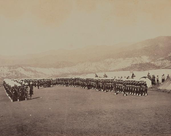Church parade in camp, 92nd (Gordon Highlanders) Regiment, 1879