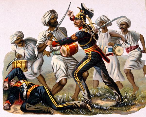 Sergeant Henry Hartigan, 9th Lancers, winning the VC at Badle-ke-Serai, near Delhi, 1857