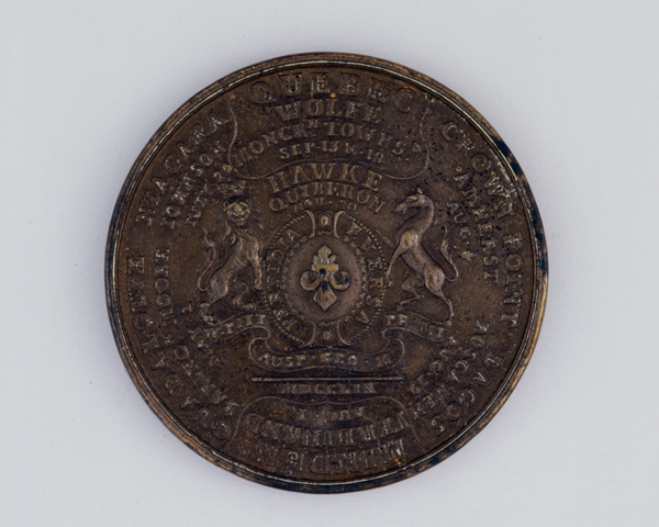 Medal commemorating British victories in the Seven Years War, 1759