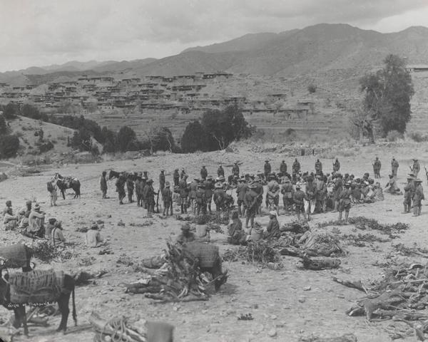 Jirgah of Mahsuds near Kaniguram, Waziristan, 1920