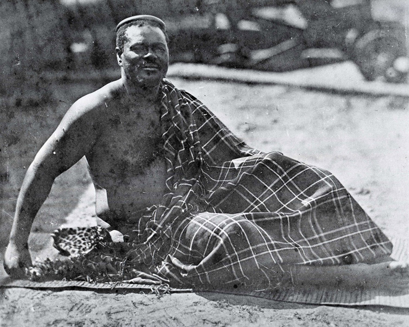 King Cetshwayo in exile at Cape Town, 1879