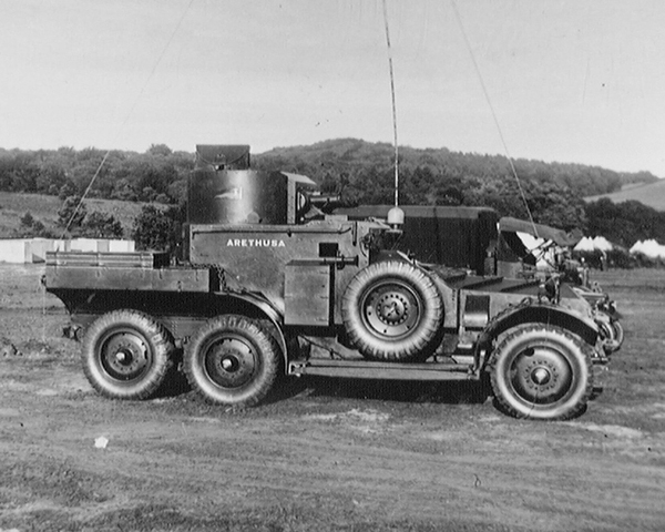 Lanchester armoured car of 'A' Squadron, 12th Royal Lancers, c1939