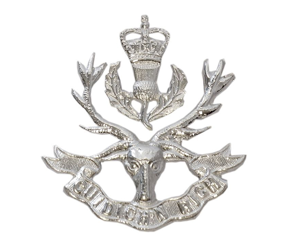 Cap badge, The Queen's Own Highlanders (Seaforth and Camerons), c1961