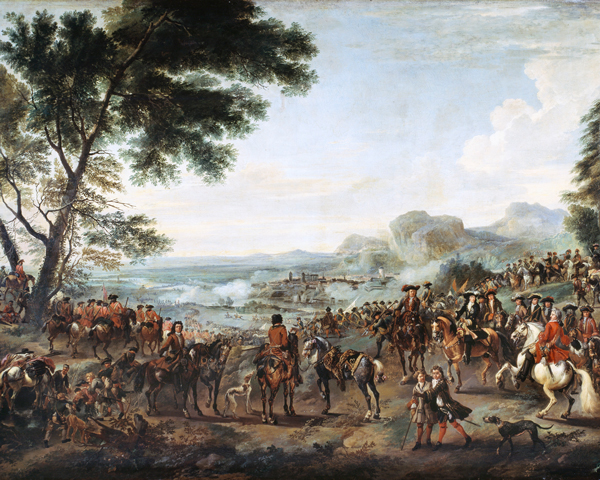 King William III and his army at the Siege of Namur, 1695