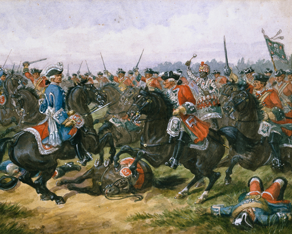 The King's Carabiniers at the Battle of Malplaquet, 1709